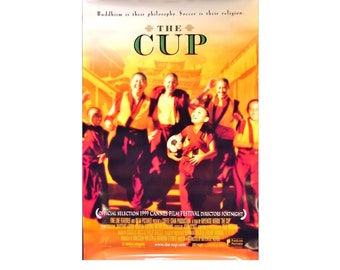 Original 1999 THE CUP Movie POSTER 27x40 Single-Sided Sheet Poster Soccer Buddhism