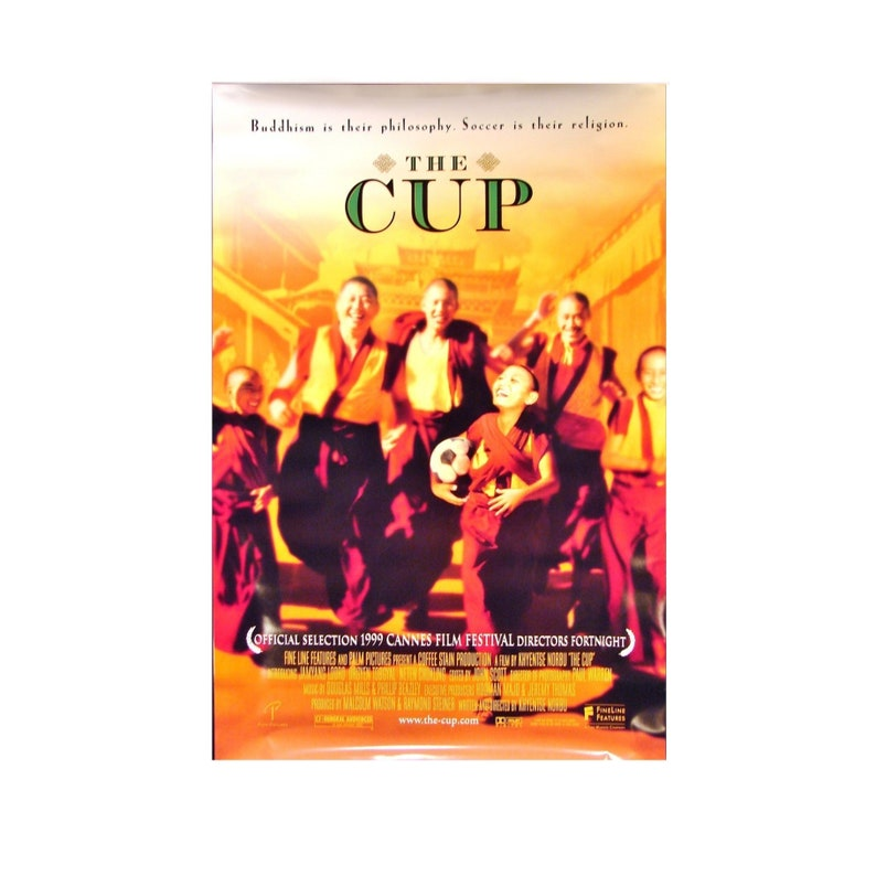 Original 1999 THE CUP Movie POSTER 27x40 Single-Sided Sheet image 0