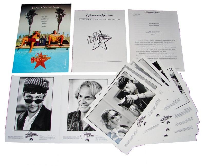1994 JIMMY HOLLYWOOD Movie Press Kit Folder Production image 0