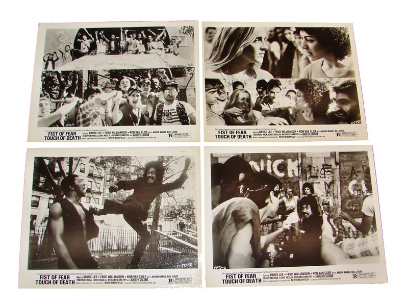 1980 FIST of FEAR TOUCH of Death  4 8x10 Movie Press Photos image 0