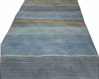 "5' x 7'6"" Flat Weave Wool Rug [Handwoven]"