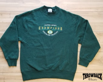 Vintage 90s NFL Pro Player Green Bay Packers Retro Crewneck Sweatshirt Men  Size Large   Oversized Womens bfcfe3552ae