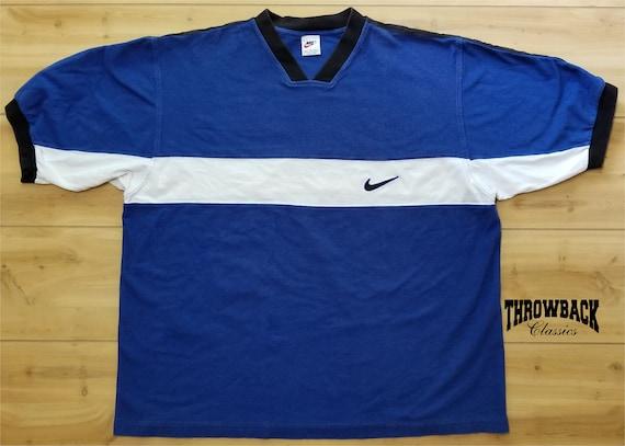 Vintage Nike 90s Heavy Tee Shirt White Tag Plain D
