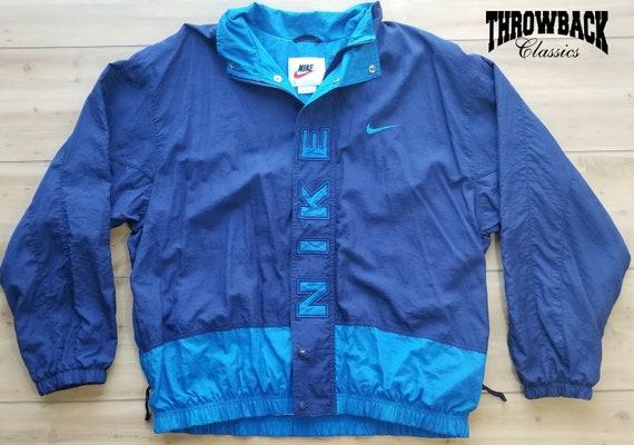 Vintage Nike Red + Turquoise Windbreaker Jacket