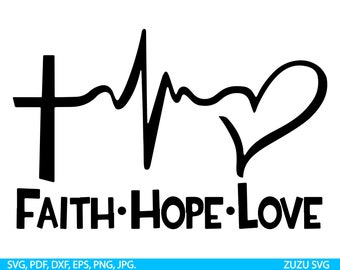 1494+ Faith Love Hope Svg by CalaDesign