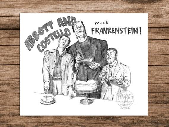 Abbott and Costello Meet Frankenstein 3 Poster Art Print Movie Home Decor