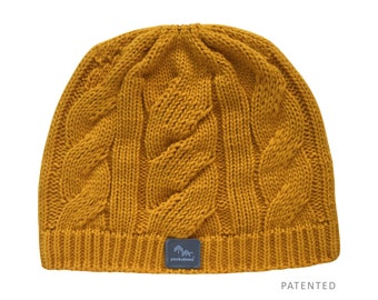 1747a3e857a Peekaboos® Ponytail Hat Beanie - Harvest (gold) - Adult Misses