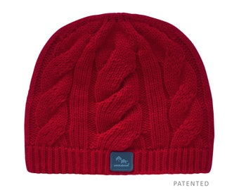 94c69785059 Peekaboos® Ponytail Hat Beanie - Holiday (red) - Adult Misses