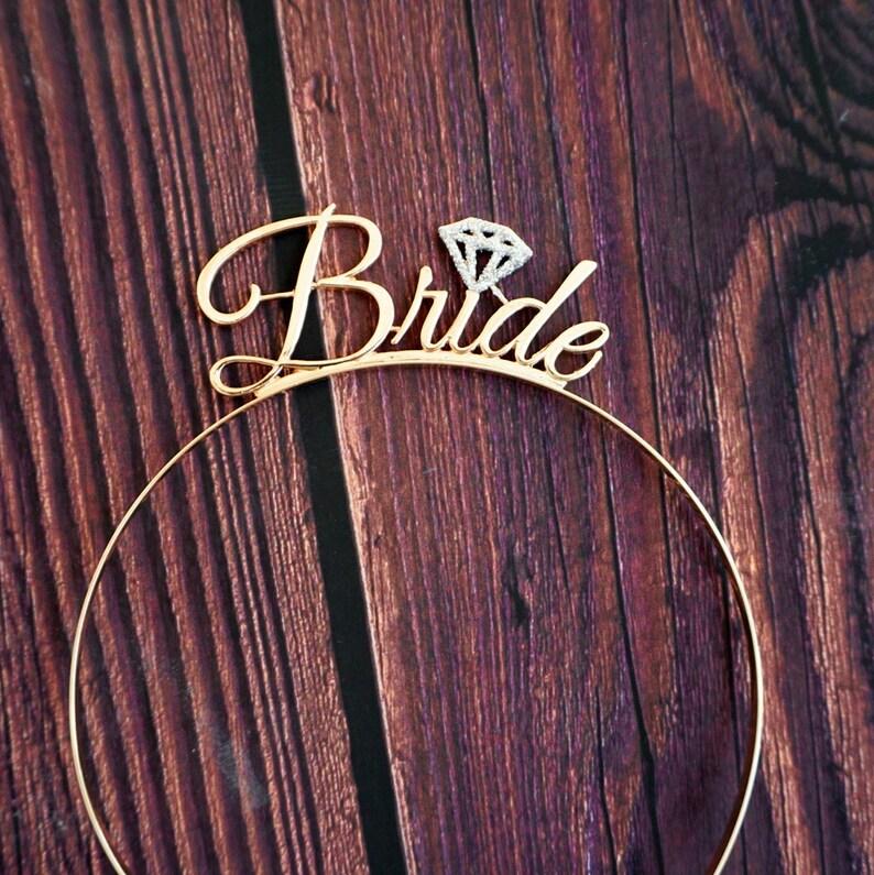 Gold Bride Tiara  Bridal Headband Bride Crown  Bride Headband  Bride Crown  Bride Hair Piece  Tiara For Wedding  Bachelorette Tiara