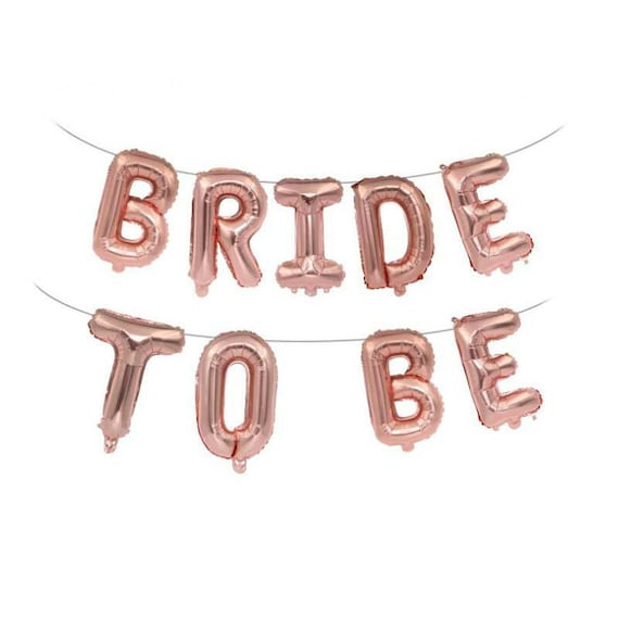 """16/"""" BRIDE TO BE Rose Gold Letter Foil Diamond Wedding Hen Party Balloon Banner O"""