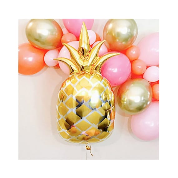 "Golden Pineapple 25/"" Foil Shaped Balloon Summer Fruit Tropical Party Decoration"