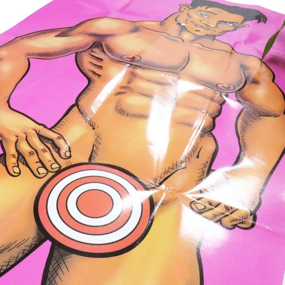 Pin The Junk on the Hunk Bachelorette Party Game Hens Party Naughty Adult Party