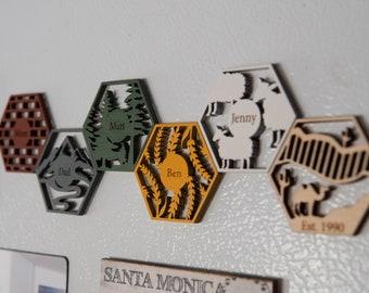 Catan Style Resource Tile Fridge Magnets