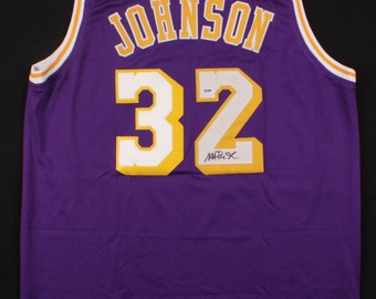 932404211 Magic Johnson Autographed Jersey