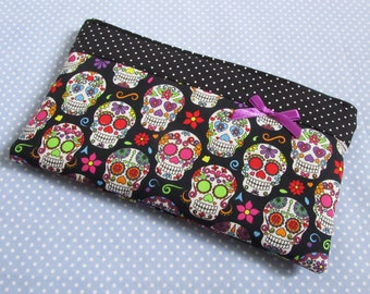 Bag for all sorts, cosmetic bag skull