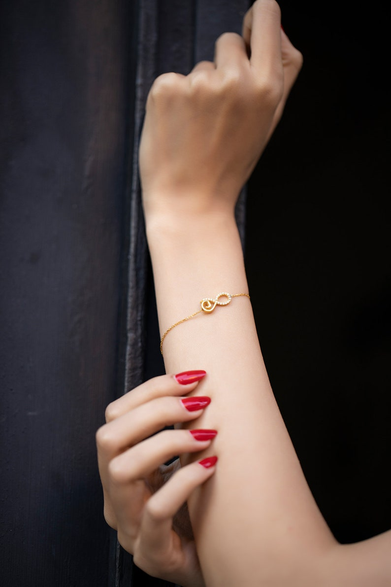 Gift for Her -Free Shipping The Infinitely  Beautiful   Gold Plated  925 Sterling Silver Wristband