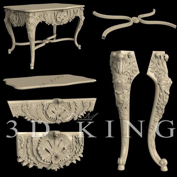 STL 3D Models # FURNITURE BEDS/&SOFAS 1# 10 PCS  for CNC Aspire Artcam 3D Printer