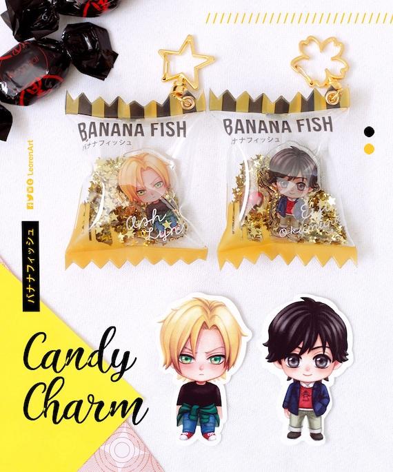 Anime BANANA FISH Ash Okumura Eiji Acrylic Keychain Keyring