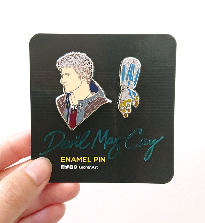Devil May Cry - Nero feat  Overture Devil Breaker - Hard Enamel Pin