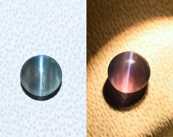 Natural Alexandrite Cats Eye Color Changing Gemstone 5.2*6.2 mm Approx Size Oval Shape Cabochan Free Shipping
