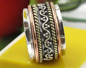 Black Onyx Gemstone Designer Ring,Handmade Silver Ring,Hot Ring Silver Jewelry Christmas Gift Anxiety Ring Meditation Ring Silver Ring