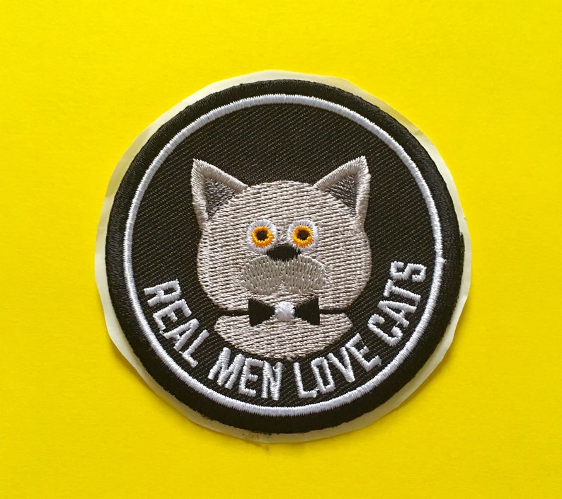 Patch thermocollant patch cat iron on ecusson chat real image 0