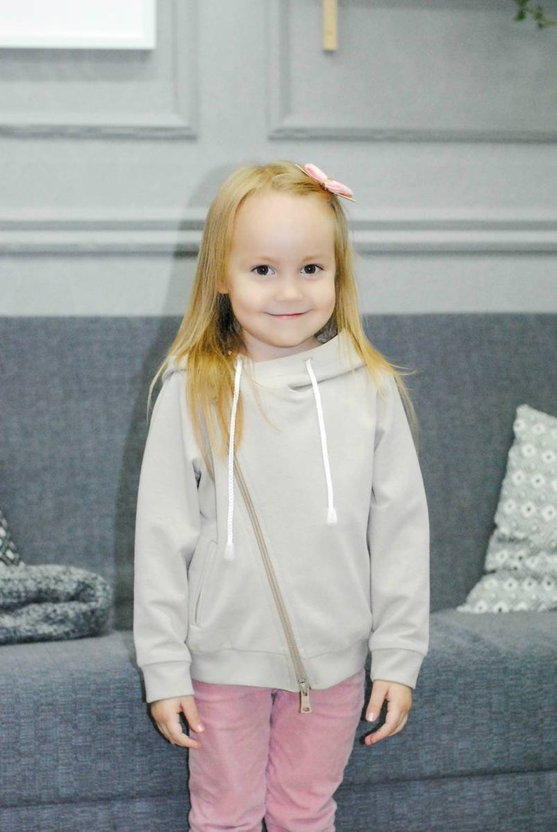 Kids/' Zip Up Hoodie Sewing Pattern PDF  Sizes 80-158 cm