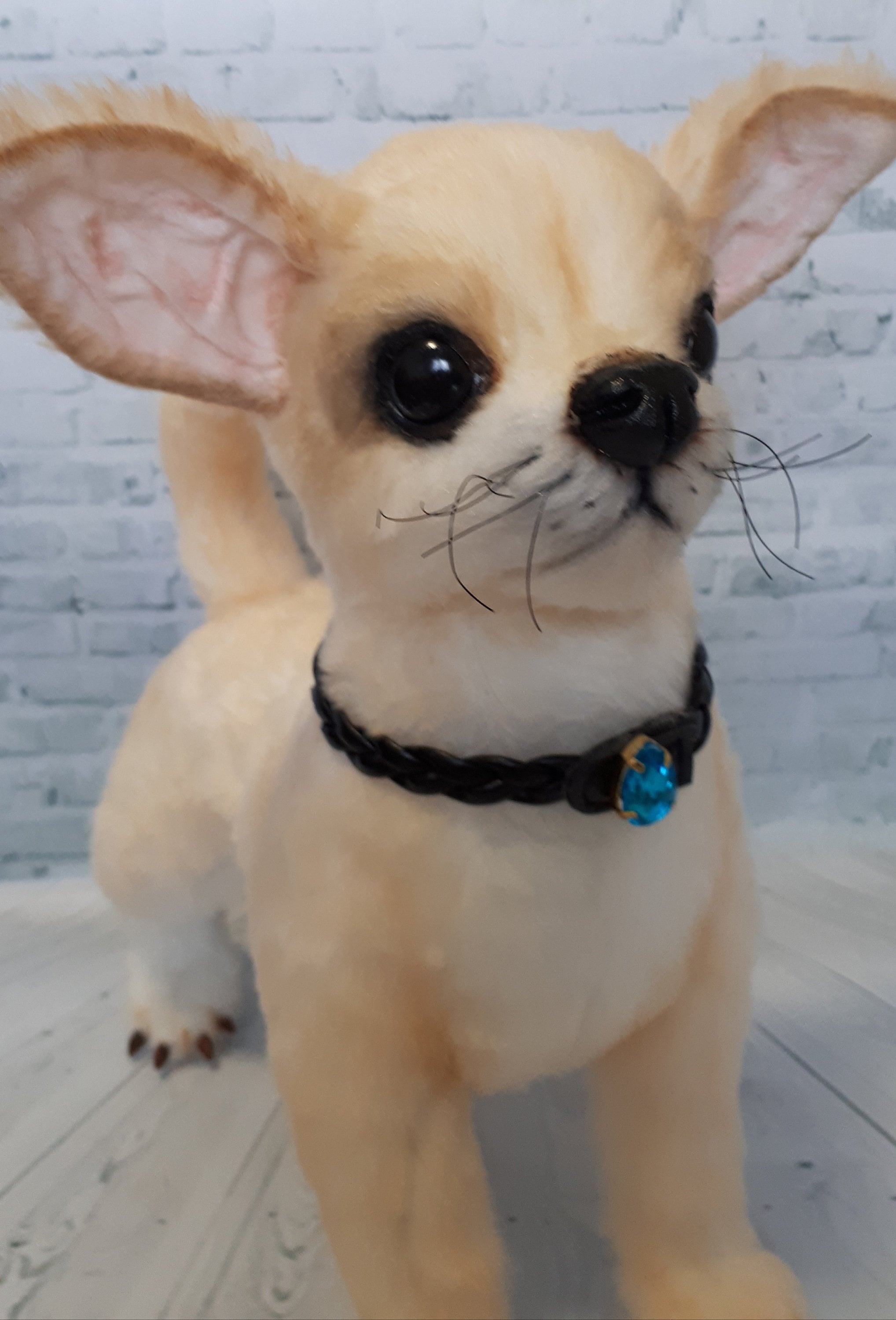 Animal Realistic Plush Toy Chihuahua Stuffed Animal Dog Etsy
