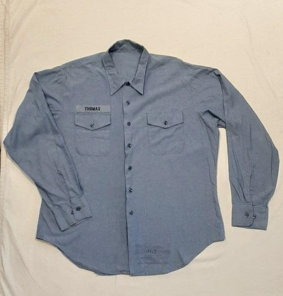 Vintage USN chambray shirt XL