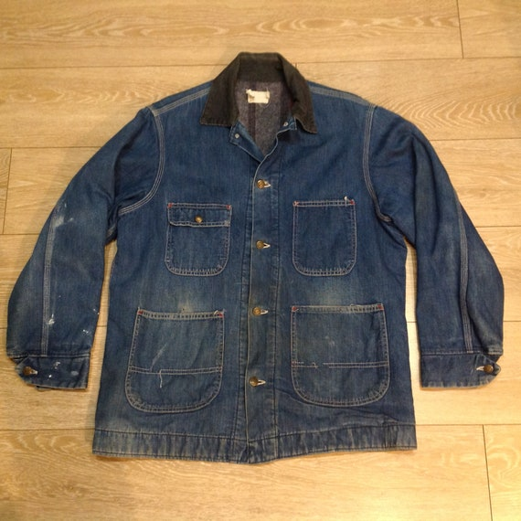 Vintage workwear denim jacket L Sears