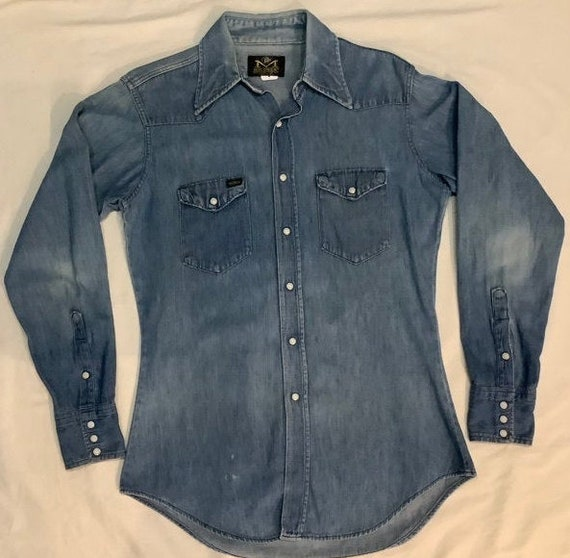 Vintage denim shirt maverick blue bell
