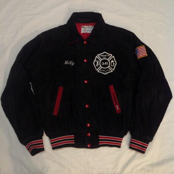 Vintage corduroy jacket black red