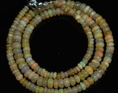 Ethiopian Welo Fire Opal Gemstone Beads Necklaces 42.5Crt Plane Rondelle 4-6mm Loose Stone Beads 18-20 Inches Excellent Quality Opal Beads
