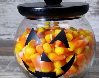 Pumpkin Candy Jar Etsy
