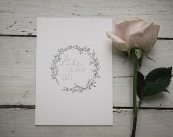 """Wedding card """"Love is in the air"""""""