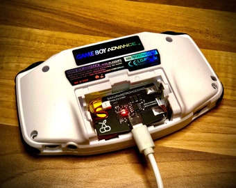 Battery Mod For GBA GameBoy Advance (Gba device not included)