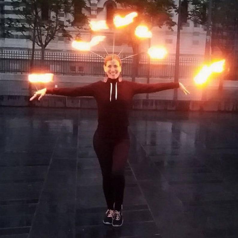 tribal fusion /& flow art fire show Headdress For Belly dance FIRE CROWN