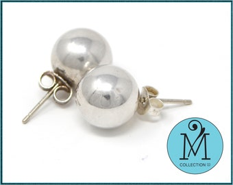 81ac51a00 Tiffany and Co. earrings-925 silver ball bead stud earrings- anniversary  gift - birthday gift - mothers day gift-gift for her