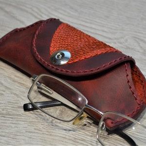 real salmon Skin pencil case green case Glasses case fish skin leather green case soft glasses case gift