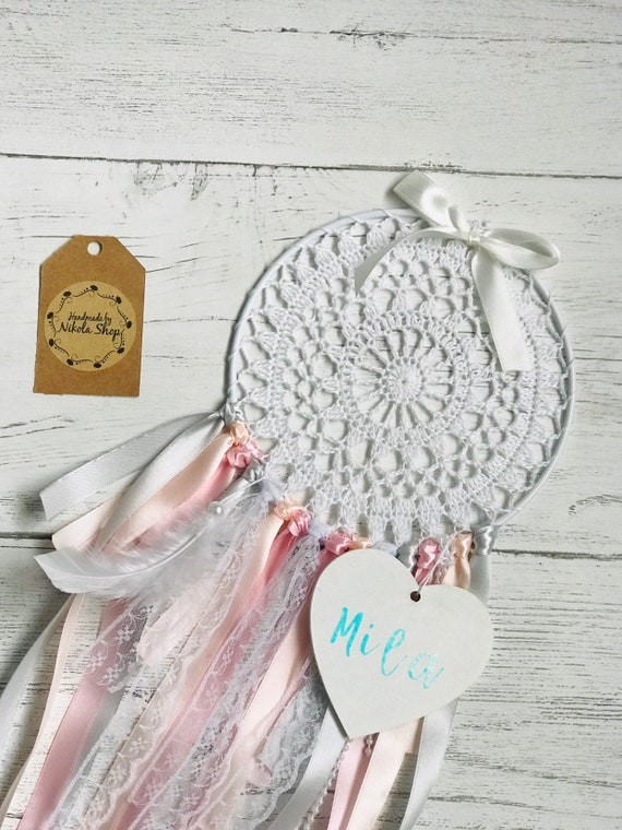 Baby Girl Dreamcatcher Nursery Baby Shower Gift Baby Room Decor Christening Gift