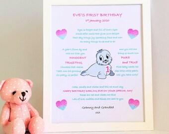 First Birthday Gift Girl