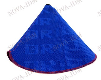 Car JDM Gradation Fabric Racing Gear Shift Knob Shift Boot Cover MT//AT For Bride