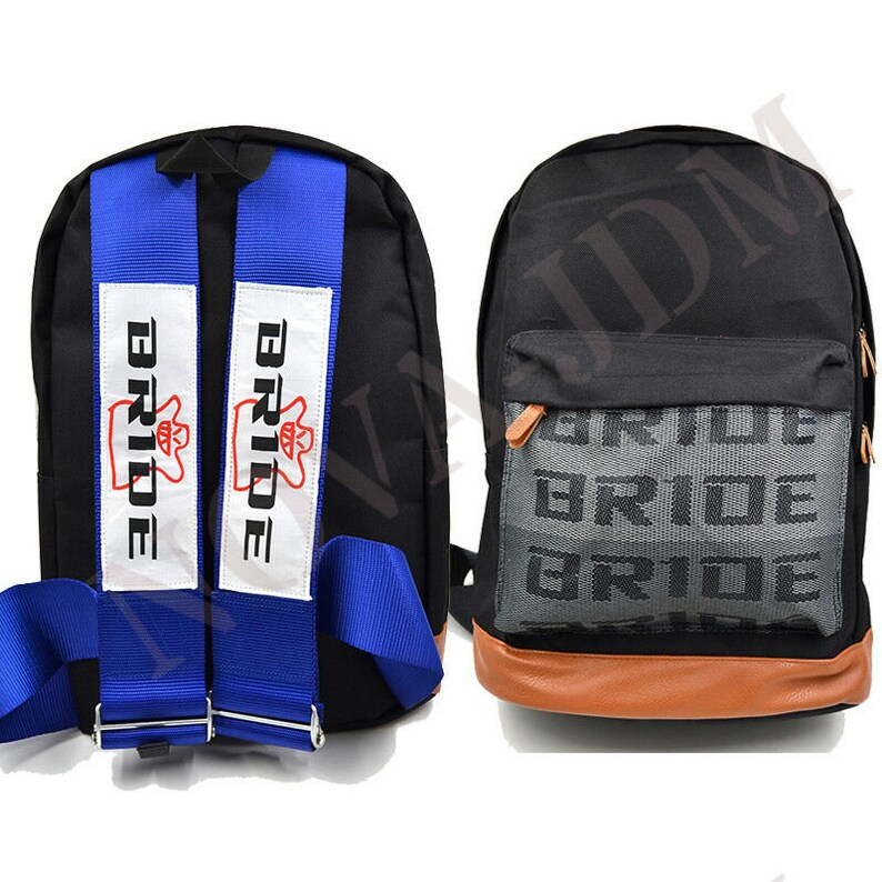 JDM Bride Racing Backpack With NISMO Racing Harness Shoulder NISMO RED straps