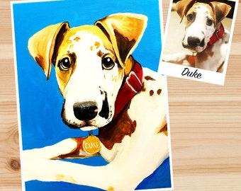Custom Pet Portrait painting, dog portrait, memorial pet painted portrait, memorial pet gifts, acrylic pet art, cat painting, animal art