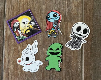Horror Halloween Nightmare NBC Cupcake Toppers Cult Classic Clipart Chibi