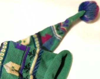 51735fd4de0 Vintage Austria Steffner Rainbow Print Knitted Ski Hat