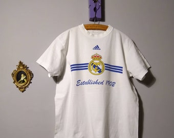e18bb82b20 pre-owned distressed t shirt real madrid adidas