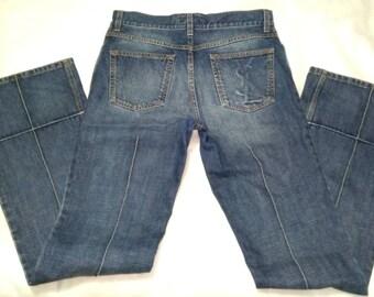 56798b04bb9 pre-owned bell bottom jeans yves saint laurent rive gauche Italy
