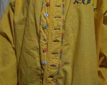 ec2526b96d42b0 des années 80 vintage France jaune salopette Naf Naf