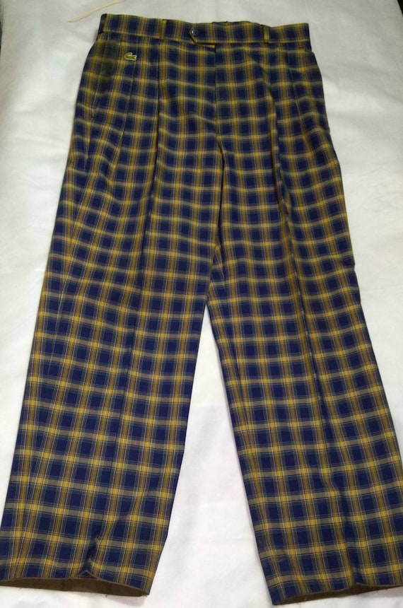 pre-owned vintage lacoste checkered casual pants|… - image 8